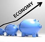 economy-arrow-means-economic-system-and-finances-100236916